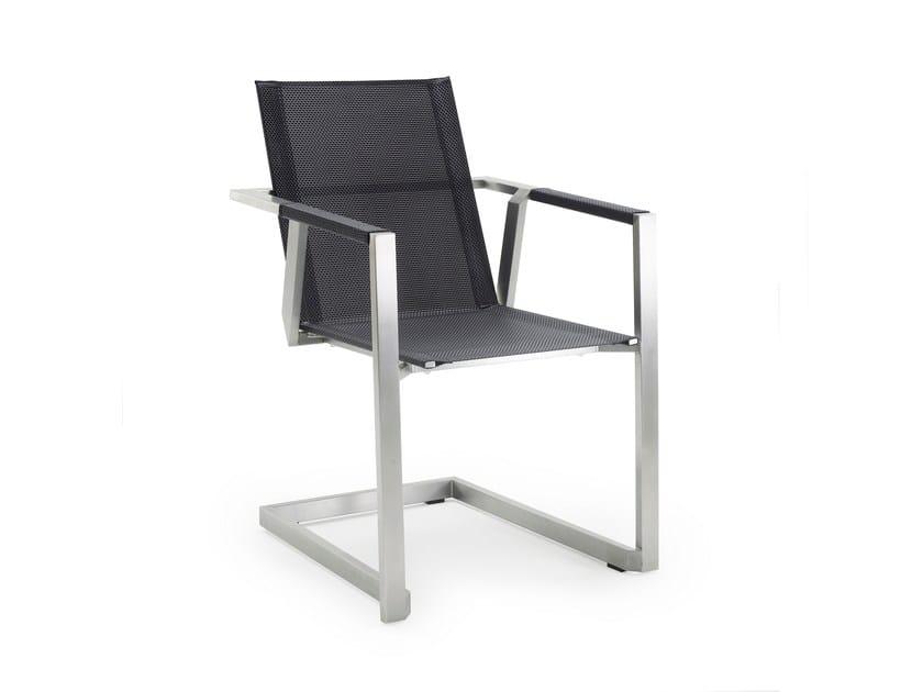 Sedia a sbalzo da giardino con braccioli ALLURE | Sedia a sbalzo - solpuri
