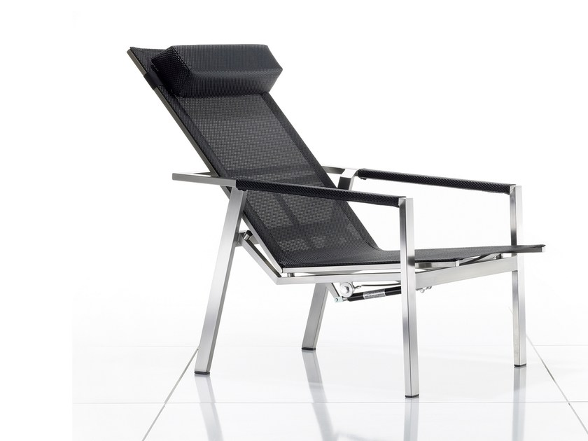 Recliner deck chair with armrests ALLURE | Deck chair - solpuri