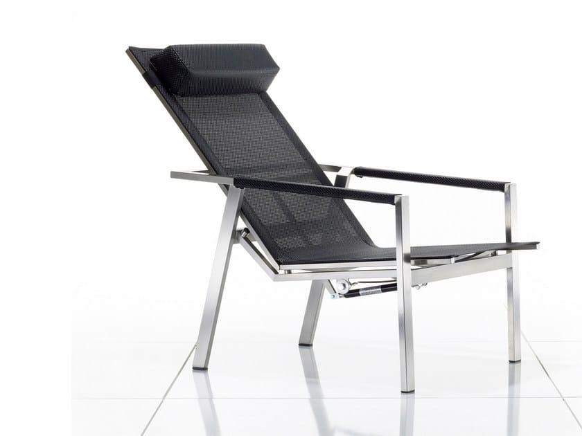 Sedia a sdraio reclinabile con braccioli ALLURE | Sedia a sdraio - solpuri