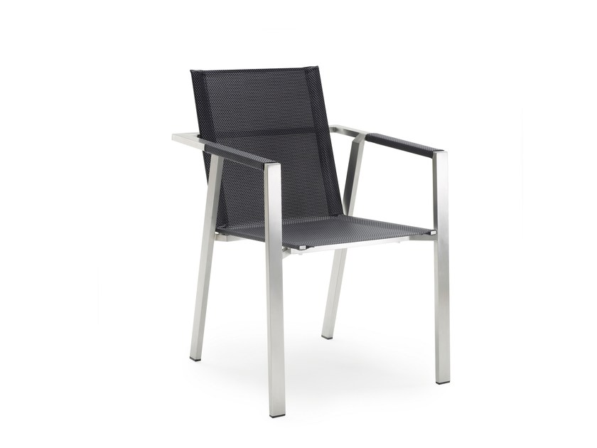 Stackable garden chair with armrests ALLURE | Stackable chair by solpuri