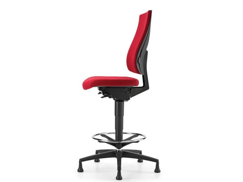 Sedia ufficio operativa ad altezza regolabile in tessuto a 5 razze per disegnatore ALLY 1703 by TALIN