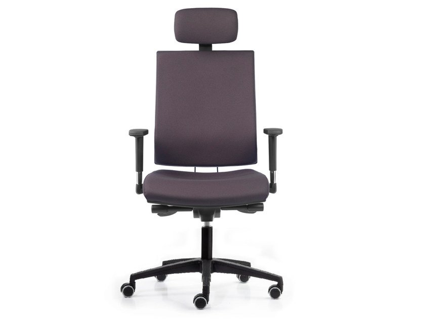 Fabric task chair with 5-Spoke base with armrests with casters ALLY 1737 A by TALIN