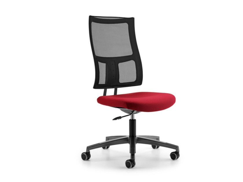 Mesh task chair with 5-Spoke base with casters ALLYNET 1740 - TALIN