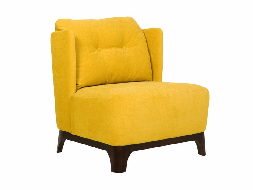 Tufted upholstered fabric armchair ALMA | Tufted armchair - SITS