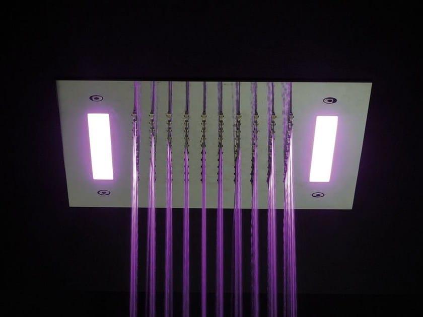 Built-in steel overhead shower for chromotherapy ALMENOINDUE CHROMOTHERAPY | Overhead shower for chromotherapy - RUBINETTERIE RITMONIO