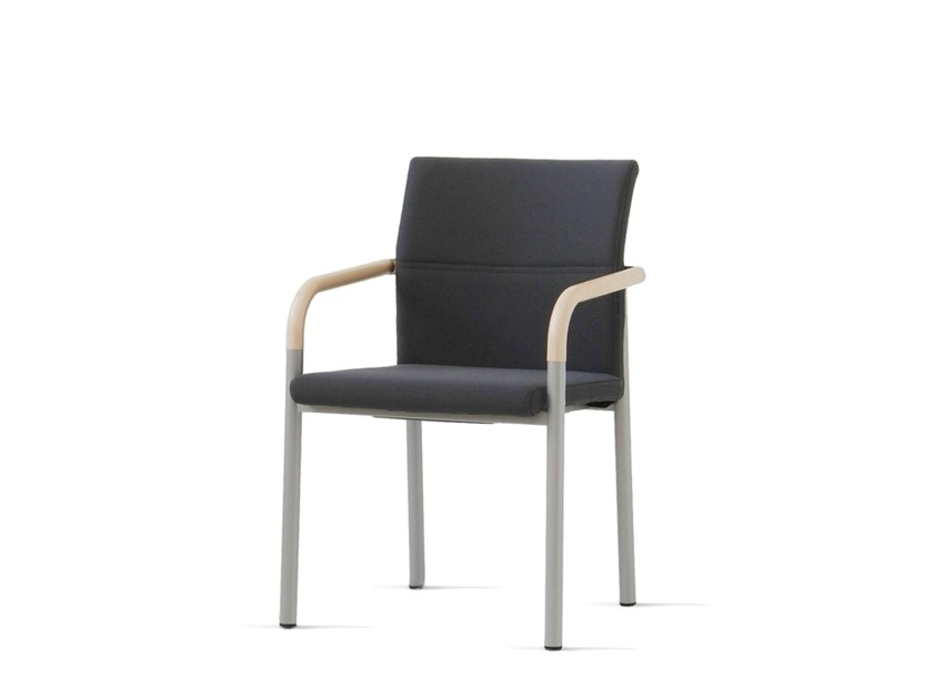 Upholstered fabric chair with armrests ALUFORM_3 | Chair with armrests - Wiesner-Hager