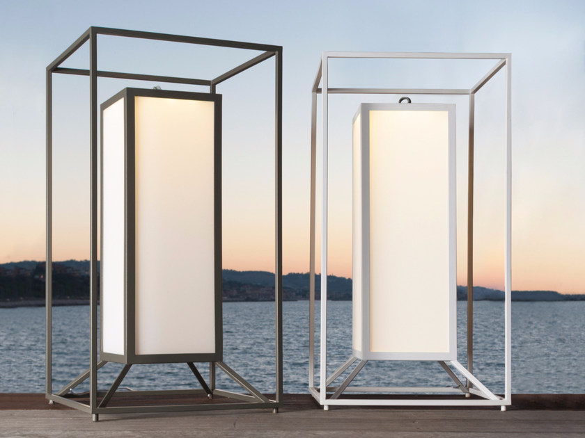 Aluminium lantern CLEO TEAK | Lantern - Talenti