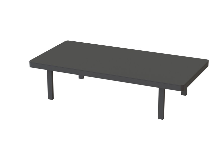 Rectangular powder coated aluminium garden side table ALURA LOUNGE | Rectangular coffee table - ROYAL BOTANIA