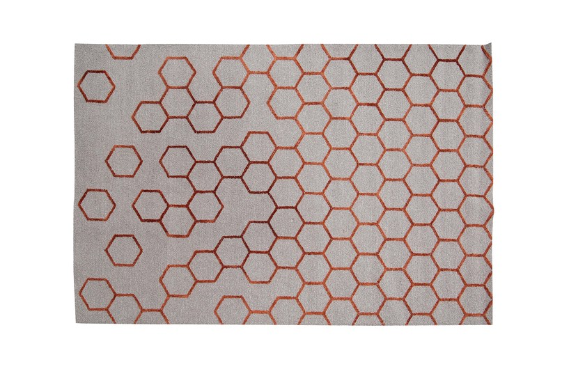 Handmade rectangular wool rug with geometric shapes ALVEO - ROCHE BOBOIS
