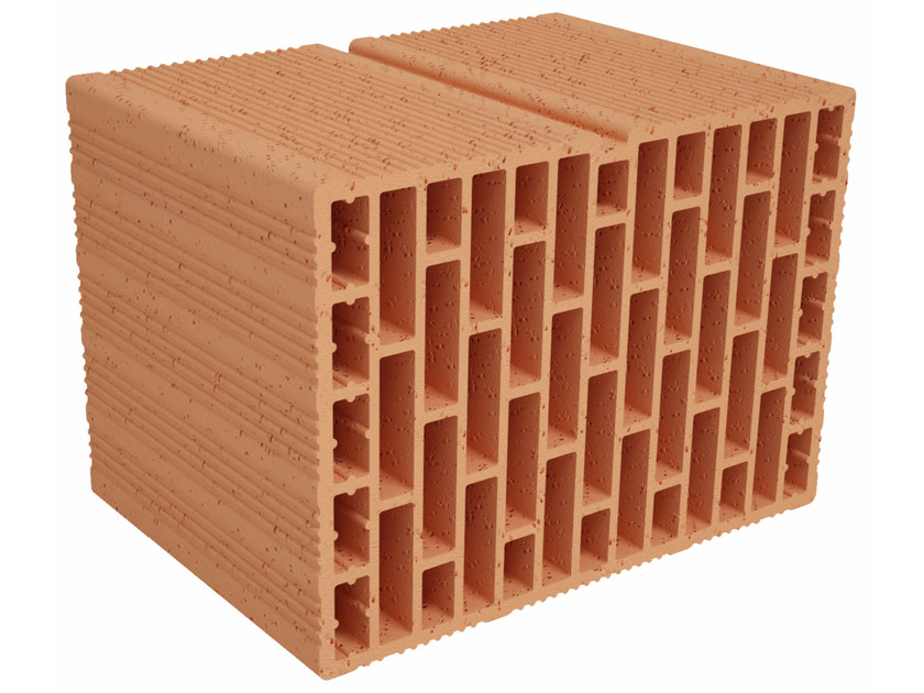 External masonry clay block Alveolater FO A35013 by Fornaci Ioniche