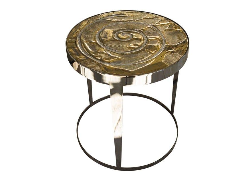 Tavolino rotondo in ceramica AMADEUS | Tavolino in ceramica - Fratelli Longhi