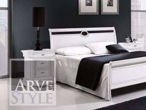 Lacquered solid wood bedside table AMALFI | Lacquered bedside table - Arvestyle