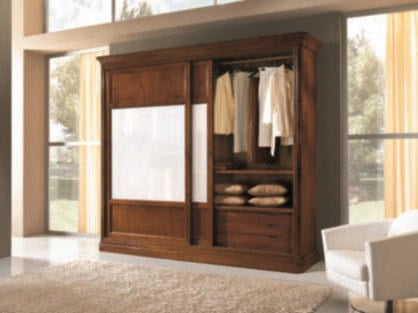 Solid wood wardrobe with sliding doors AMALFI | Solid wood wardrobe - Arvestyle