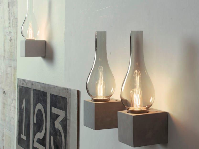 Direct light cement wall light AMARCORD | Wall light - Karman