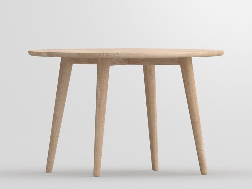 Tavolo da pranzo rotondo in legno massello AMBIO | Tavolo rotondo ...