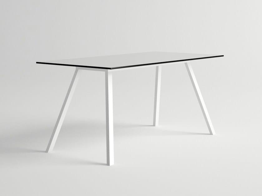 Rectangular aluminium garden table AMELIA | Garden table - 10Deka