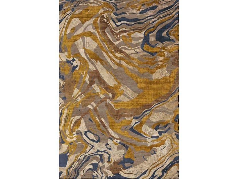 Tappeto annodato a mano in lana e fibre di bamb amethyst - Sirecom tappeti ...