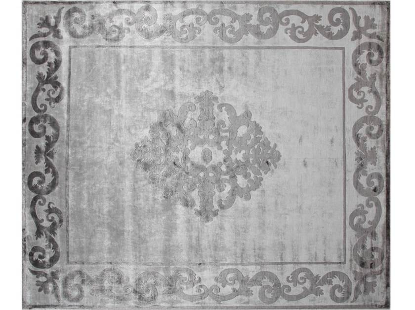 Handmade rectangular custom rug AMIRAL PEARL - EDITION BOUGAINVILLE