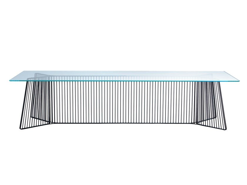 Tempered glass table ANAPO - Driade