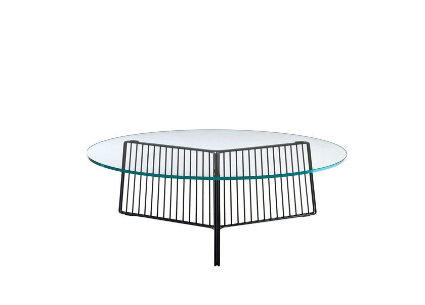 Tempered glass coffee table ANAPO by Driade