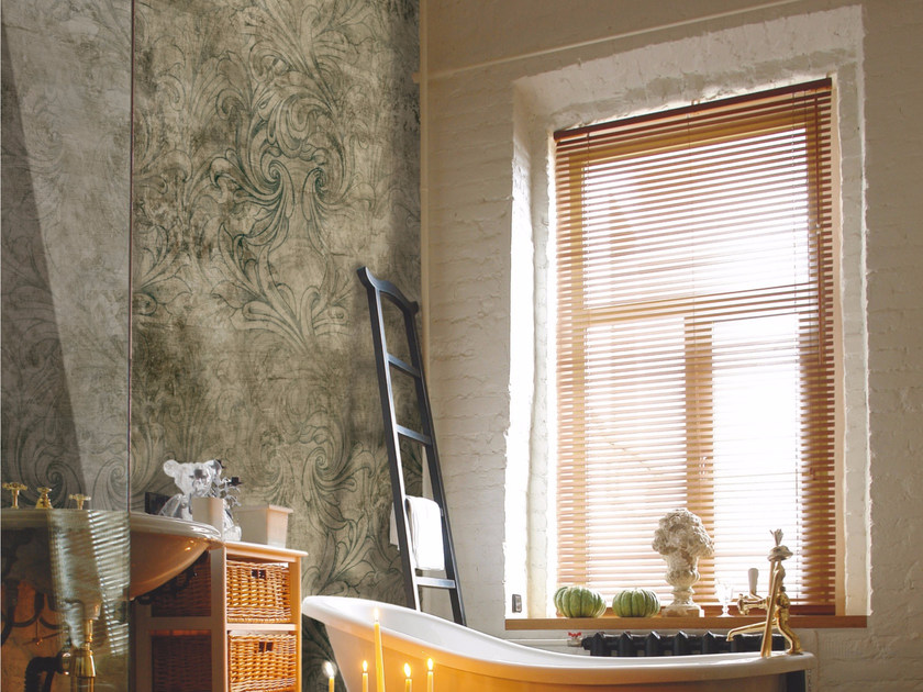 Damask panoramic wallpaper ANCIENT MELODY - Inkiostro Bianco