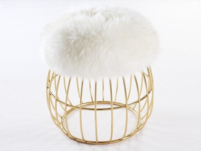 Brass stool ANDY - Ottiu