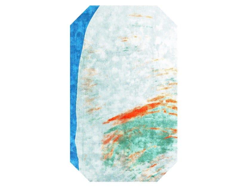 Handmade bamboo silk rug ANDY WARHOL - MAQUETTE 114 - HENZEL STUDIO