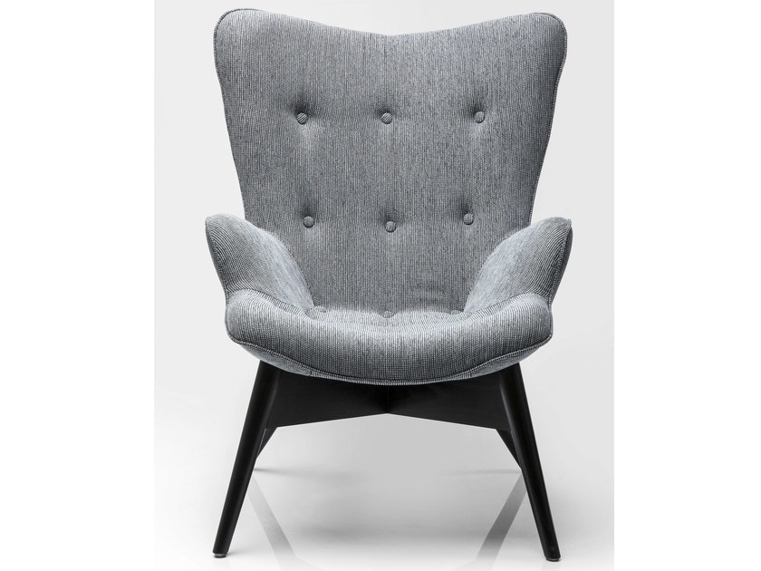 Fabric armchair with armrests ANGELS WINGS SALT+PEPPER ECO by KARE-DESIGN