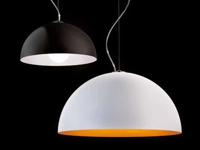 Painted metal pendant lamp ANKE - LUCENTE - Gruppo Rostirolla
