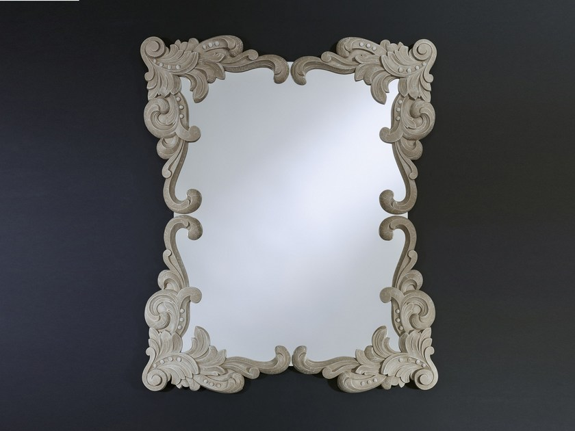 Rectangular wall-mounted mirror ANNA BEIGE - ANNA WHITE - DEKNUDT MIRRORS