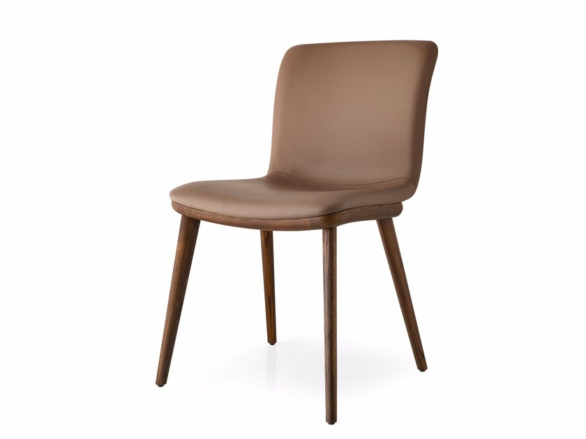 Upholstered leather chair ANNIE | Leather chair - Calligaris