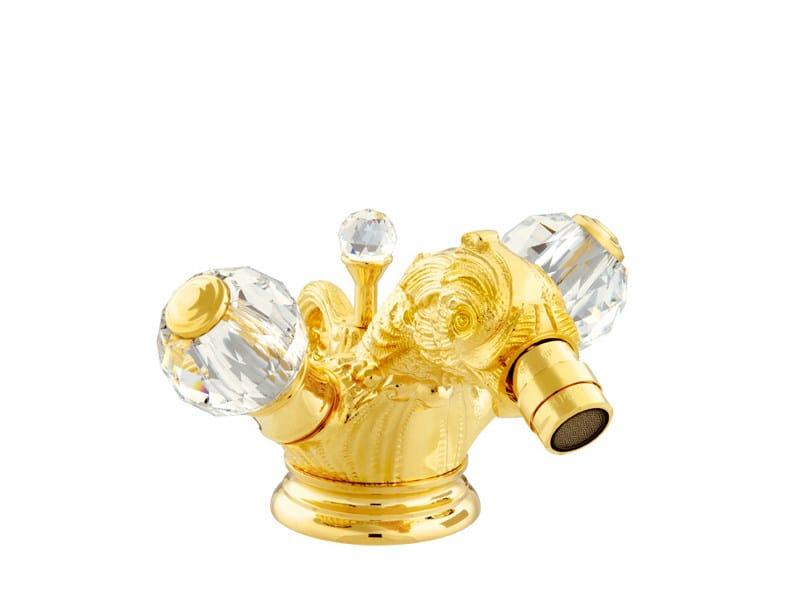 1 hole bidet tap with Swarovski® crystals ANTARTICA | 1 hole bidet tap by Bronces Mestre