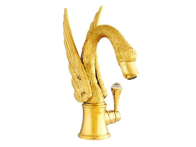 Single handle washbasin mixer with Swarovski® crystals ANTARTICA SWAN | Washbasin mixer with Swarovski® crystals by Bronces Mestre