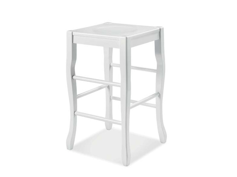 High wooden stool with footrest ANTHEA | Stool - CREO Kitchens by Lube