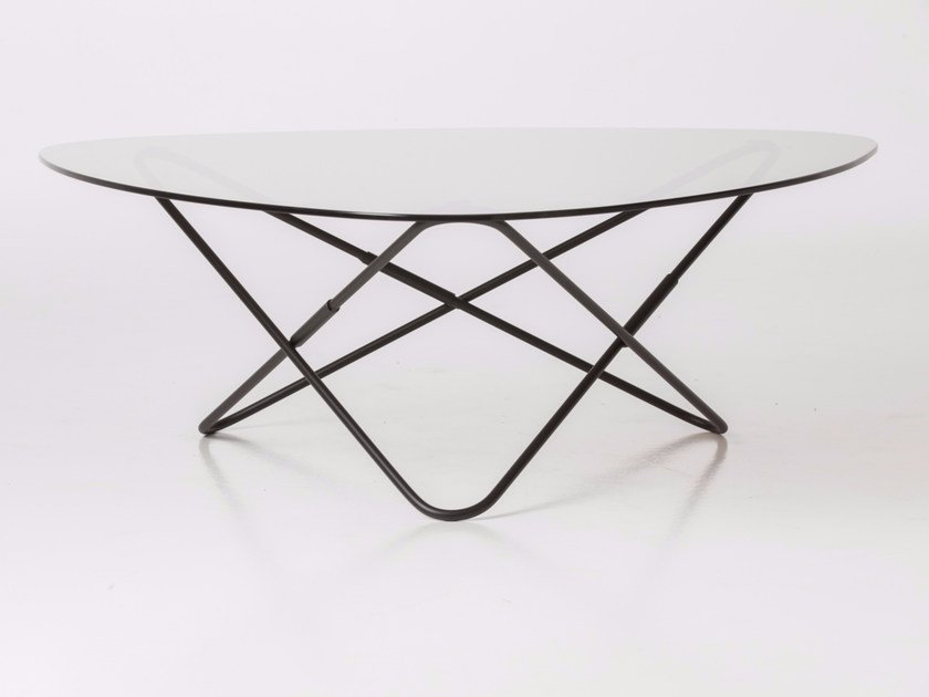 Low glass coffee table AO - AIRBORNE