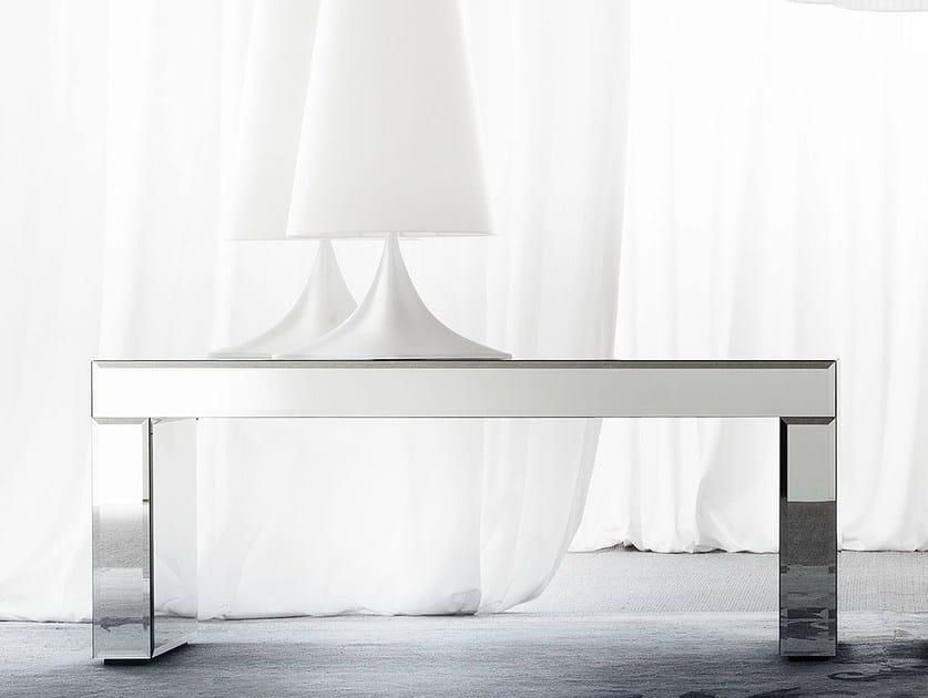 Rectangular mirrored glass console table APHRODITE - ERBA ITALIA