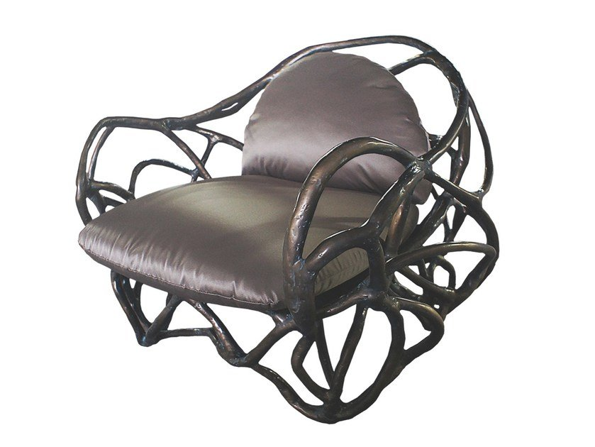 Fiberglass easy chair with armrests APOLLO K1043 - Karpa