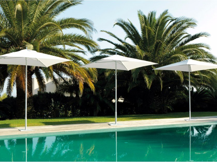 Adjustable square Garden umbrella APOLLO by Talenti