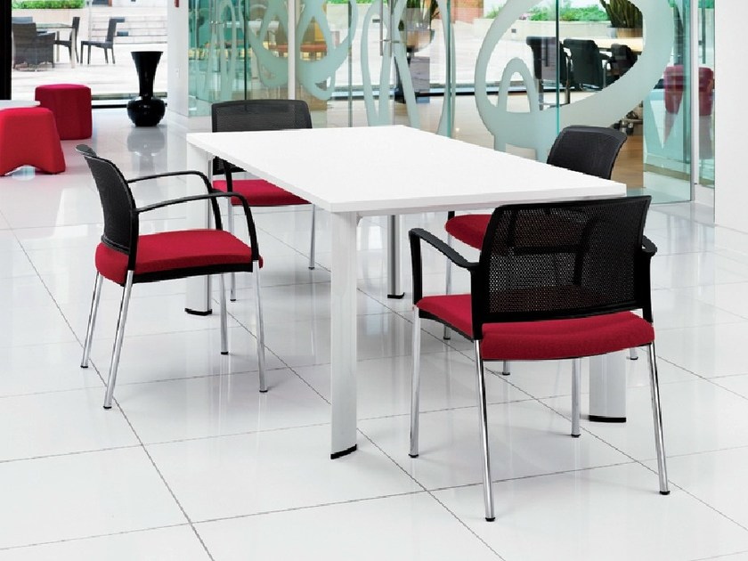 Lacquered rectangular meeting table APOLLO | Lacquered meeting table - Boss Design