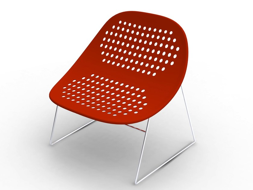 Sled base easy chair APTA - Paolo Castelli
