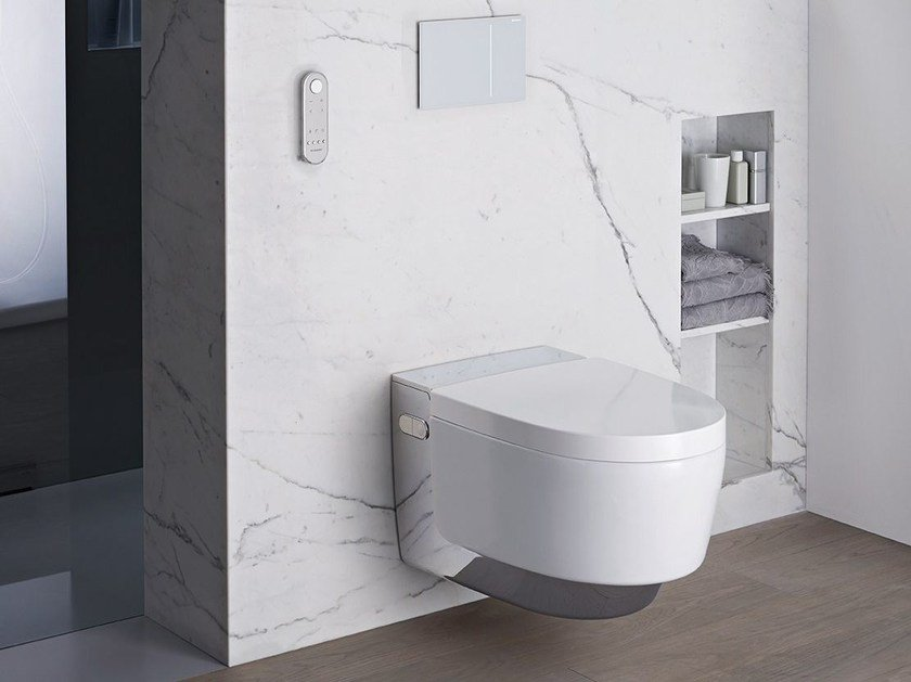 Wall-hung toilet with bidet AquaClean Mera by Geberit Italia