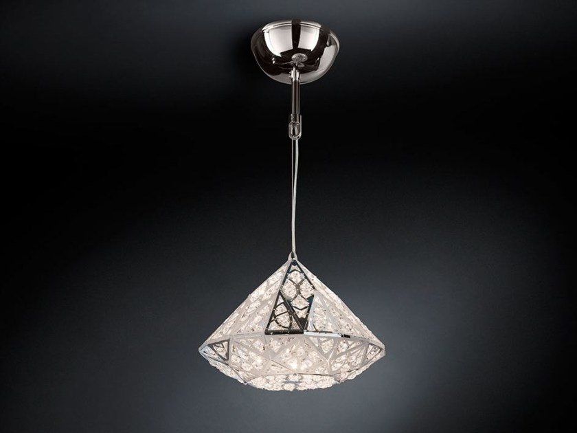 LED steel pendant lamp with crystals ARABESQUE DIAMOND | LED pendant lamp - VGnewtrend
