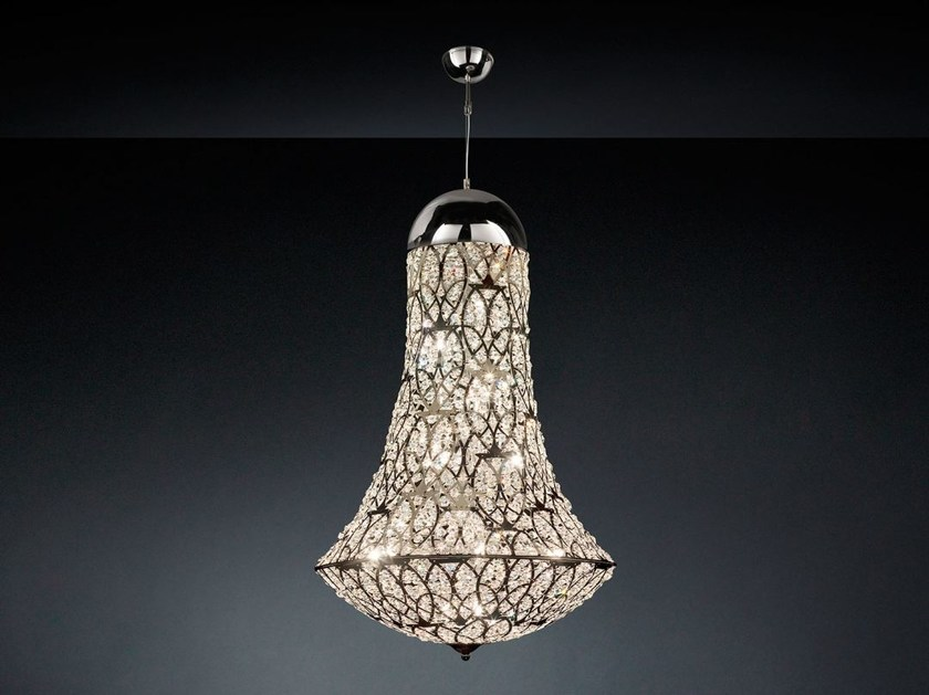 LED steel pendant lamp with crystals ARABESQUE EXCLAMATION - VGnewtrend