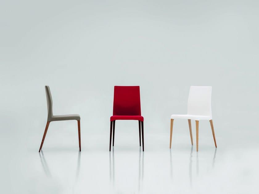 Upholstered fabric chair ARAGONA by Tonin Casa