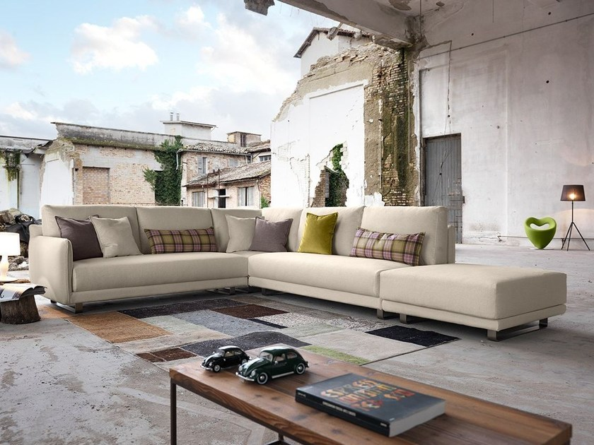 Divano angolare in tessuto araki divano angolare - Immagini salotti ...