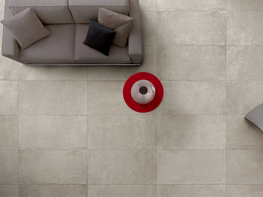 Indoor/outdoor porcelain stoneware flooring with stone effect ARCHEA | Flooring by Sichenia