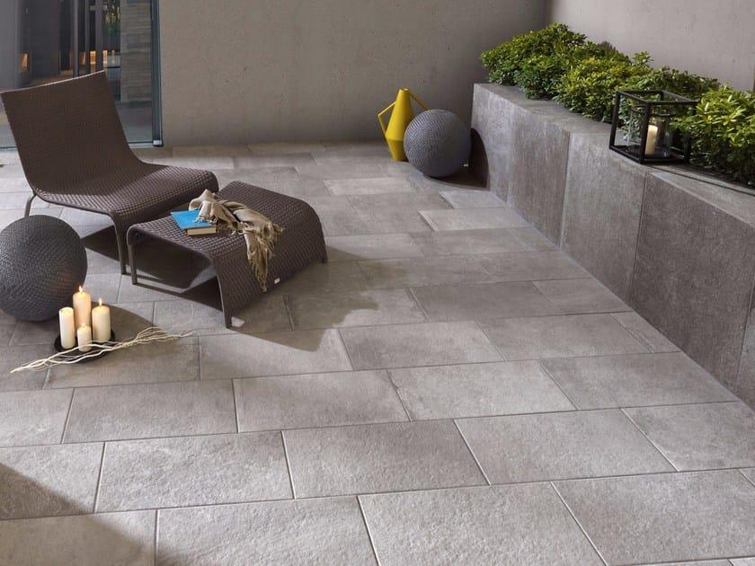 pavimento in gres porcellanato effetto pietra per interni