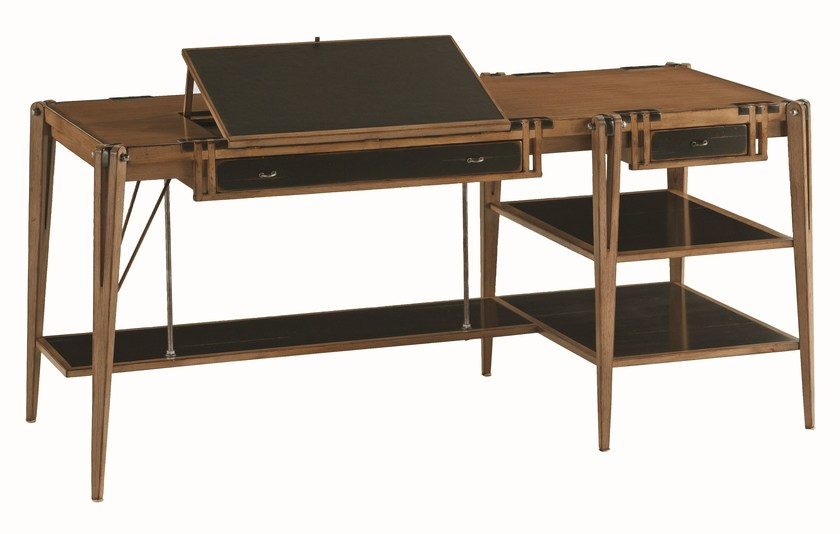 Solid wood writing desk with drawers ARCHIMEDE | Writing desk - ROCHE BOBOIS