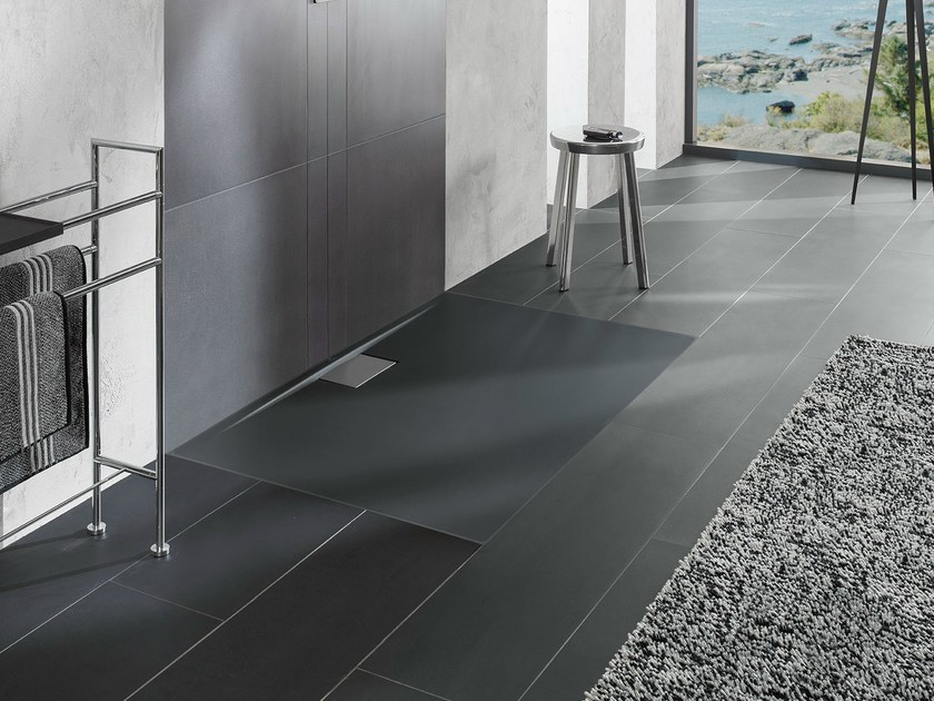 piatto doccia ultrapiatto in acrilico colorato architectura metalrim villeroy boch. Black Bedroom Furniture Sets. Home Design Ideas