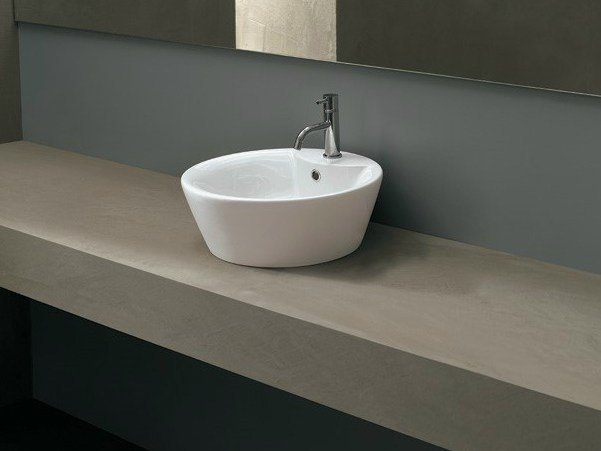 Countertop round ceramic washbasin ARCO PLUS - Alice Ceramica